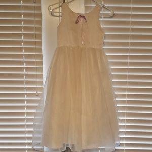 White flowergirl dress